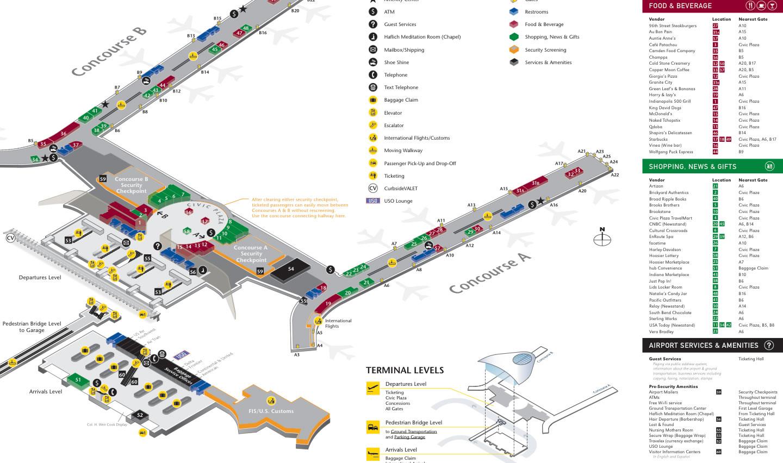Indianapolis Airport Map Rental Cars